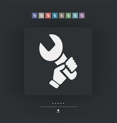 Worker concept symbol icon vector