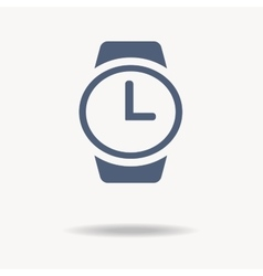 wrist watch icon flat design vector image