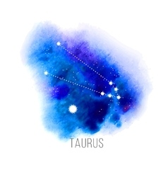 Astrology sign taurus on watercolor background vector