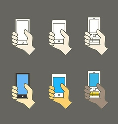 Different modern mobile gadgets vector image vector image