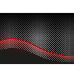 Glowing Red Line over Dotted Metallic Background vector image vector image
