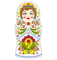 matryoshka on white background vector image