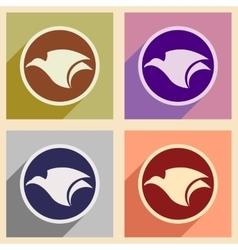 Assembly logo flying eagle vector image vector image