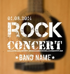 blurred background with acoustic guitar Rock vector image