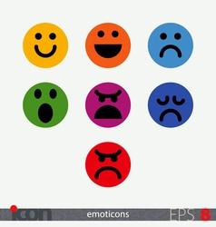 Emoticon Set vector image
