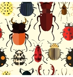 Insect Seamless pattern vector image vector image