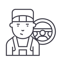 mechanic line icon sign on vector image