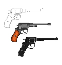 Set of revolvers vector image