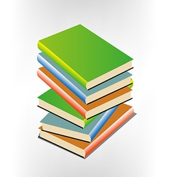 Book pile vector image