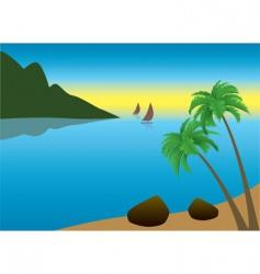 tropical palm beach vector image