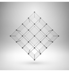 Wireframe mesh polygonal cube vector image vector image
