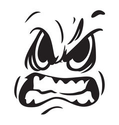angry face icon resize vector image