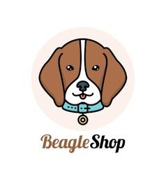 Beagle dog logo vector