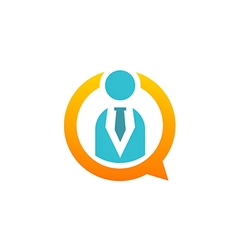 business man people icon communication logo vector image