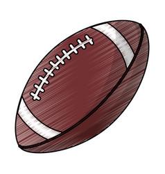 drawing amerian football ball equipment vector image vector image