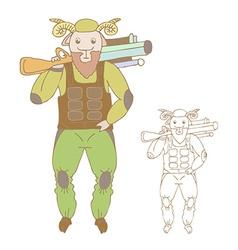 Funny cartoon sheep vector image vector image