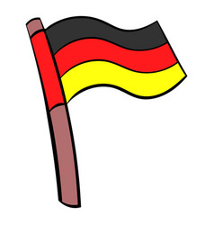 germany flag icon cartoon vector image