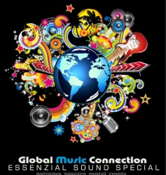 global music vector image vector image