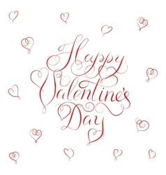 Happy Valentines Day - calligraphy vector image vector image