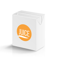 juice package realistic mock up template vector image vector image