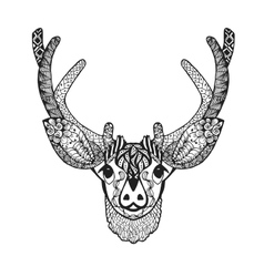 Zentangle stylized baby deer Sketch for tattoo or vector image