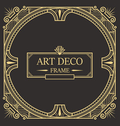 art deco border and frame template vector image