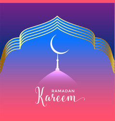 Beautiful ramadan kareem seasonal background vector