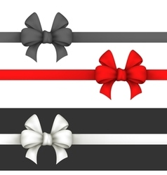 Black red and white gift bows vector image