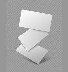 Blank business card falling realistic branding vector