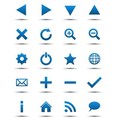 Blue Navigation Web Icons vector