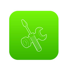 bolt driver icon green vector image