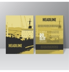 Brochure template design L vector