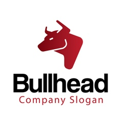 Bull head design vector