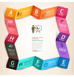 Business infographics circle origami template vector