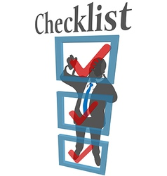 Business person check list form vector