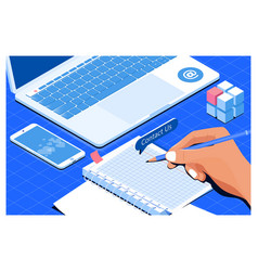 business team conceptcontact us customer service vector image