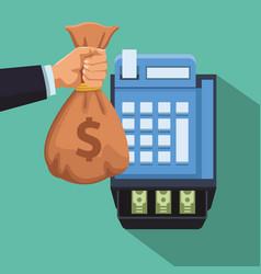 cash register sales vector image