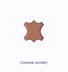 colorful genuine leather icon isolated vector image