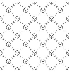 cube seamless pattern ar background vector image