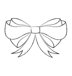 Decorative bowtie isolated icon vector