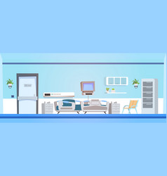 Empty hospital ward background clinic room vector