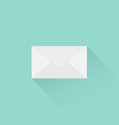 envelope in a flat style letter in envelope vector image