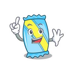 Finger candy mascot cartoon style vector