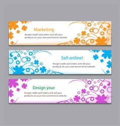 Flower colourful banner vector