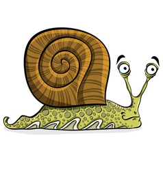Funny cartoon snail vector image