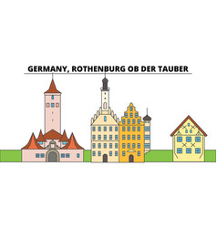 germany rothenburg ob der tauber city skyline vector image
