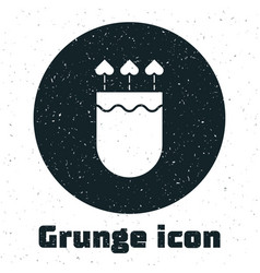 Grunge quiver and arrows with heart icon isolated vector