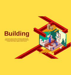 House building cross section vector