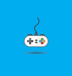 icon of gamepad to play station on green vector image