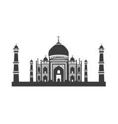 Icon of taj mahal vector